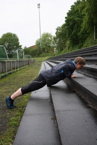 Push up´s leicht Endposition